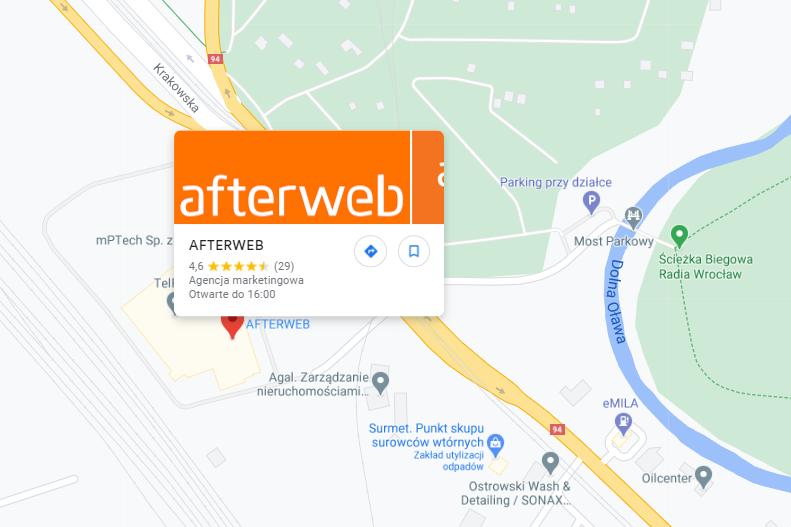 Pinezka na Mapie Google