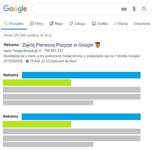 Google Ads - Linki sponsorowane