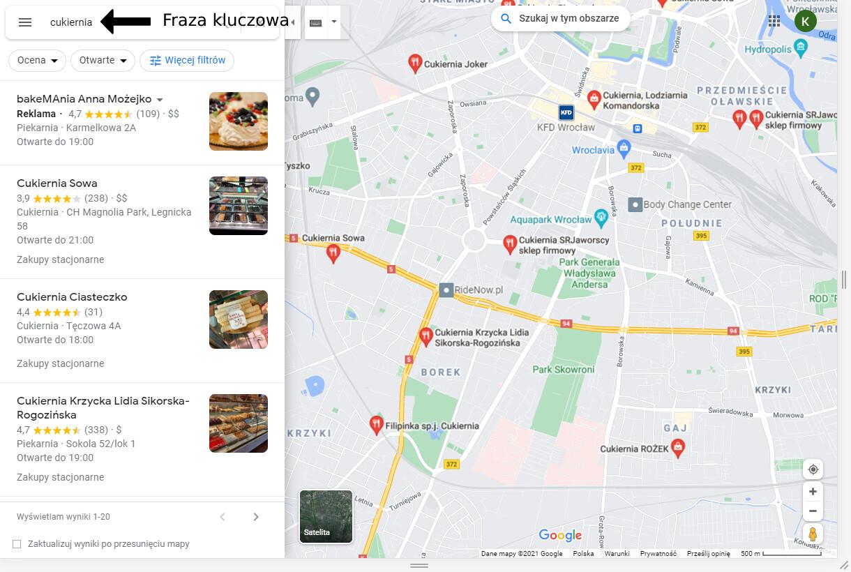 Wyszukiwanie Lokalnych Cukierni