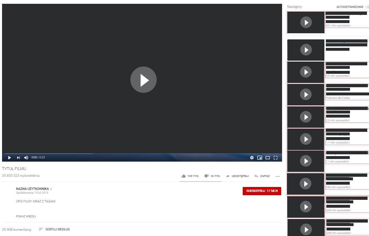 pozycjonowanie filmów youtube